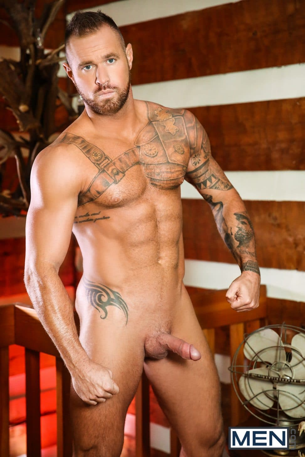 Tattooed Nude Man